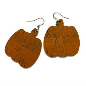 Pumpkin Cork Earrings